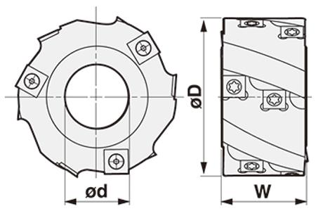 立軸螺旋刀頭-SPB-S