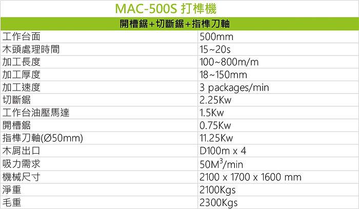 打榫機 MAC-500S