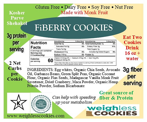 Weighless™ Cookies FiBERRY Value Pack (18 Cookies)