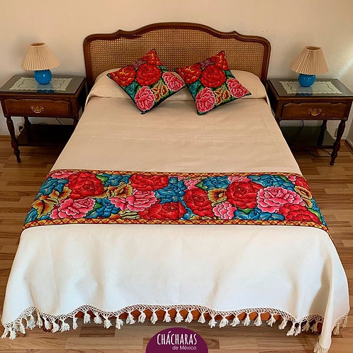 Juego de cama Matrimonial Juchitán Beige