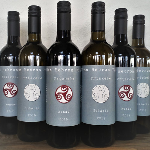 Full Mixed Case 12 bottles of 2019 Triskele White and Red