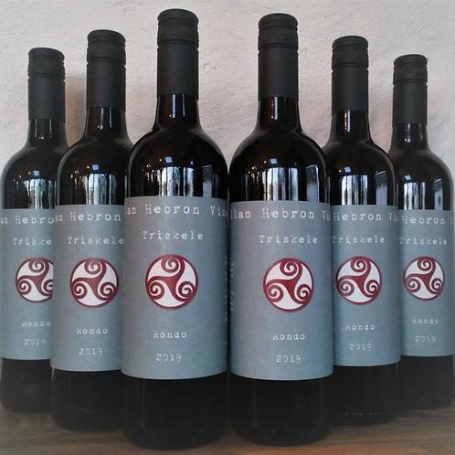 Half Case 6 bottles of 2019 Triskele Red Still Rondo wine