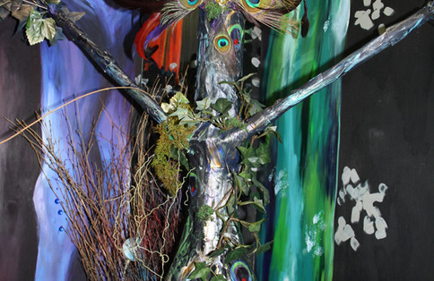 Enchanted Forest Panel with Tree
