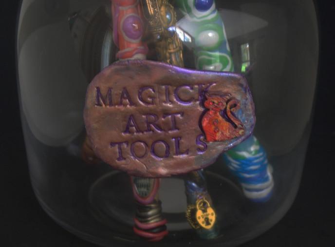 Magick Art Tool Jar - Label Detail