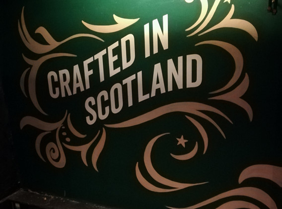 Innis & Gunn branded mural The Tron