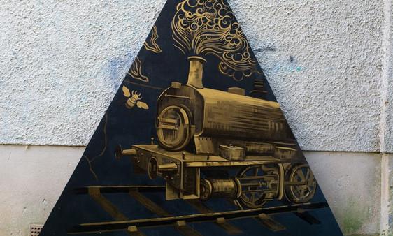Aberfeldy Whisky. Panel 5. Train