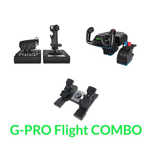 Logitech G-PRO Flight 3-item Combo