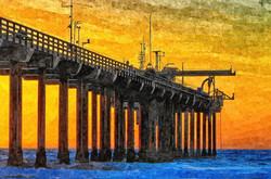 Sunset at Scripps Pier in La Jolla