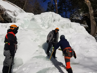 Ice Climbing in the Catskills