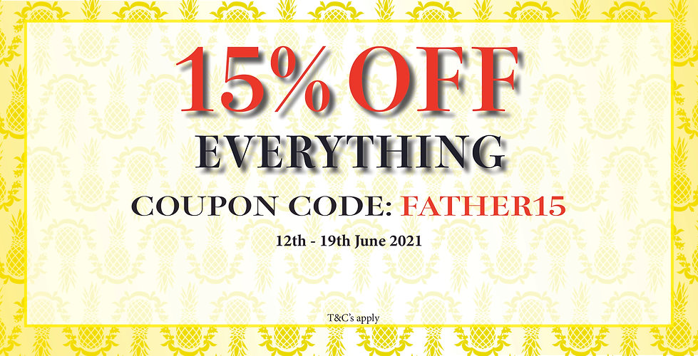 12th - 19th June 15% Off Website banner.