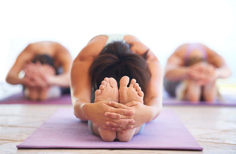 Frauen Stretching