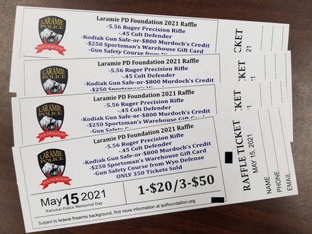Laramie Police Department Foundation now selling tickets for 5th annual raffle!