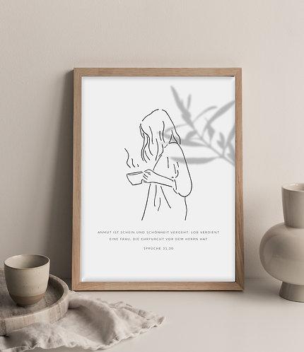 Anmut und Schönheit Print A4