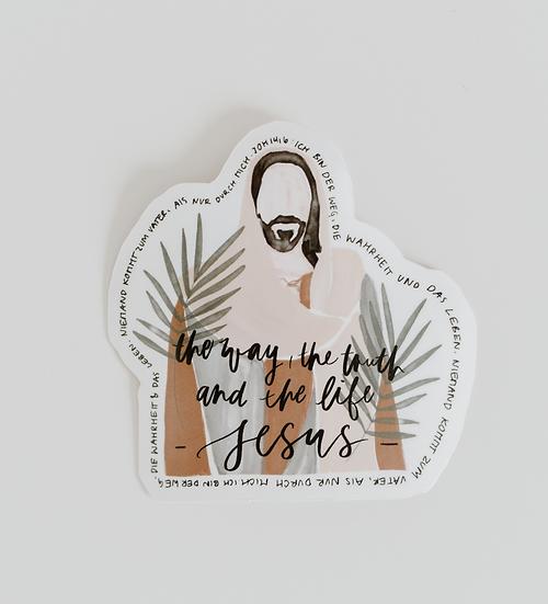 JESUS Sticker – Der Weg, die Wahrheit und das Leben