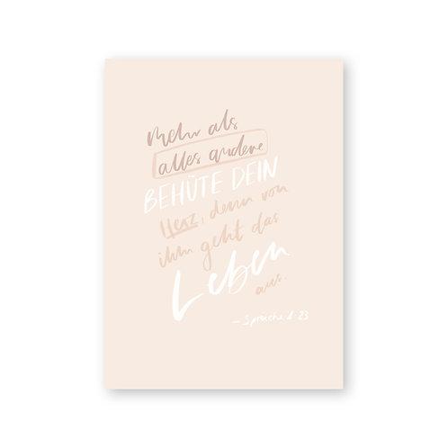 Behüte dein Herz – Postkarte