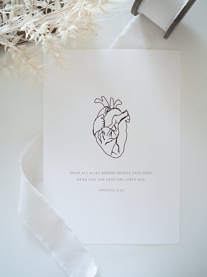 Behüte dein Herz Print A4