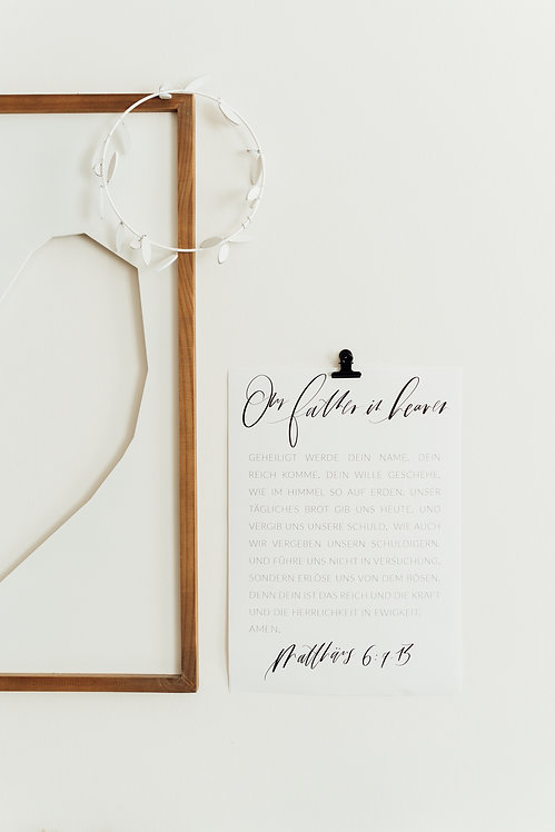 Vater Unser – Poster A3