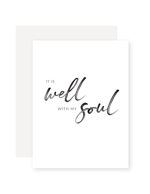 it is well with my soul – Postkarte