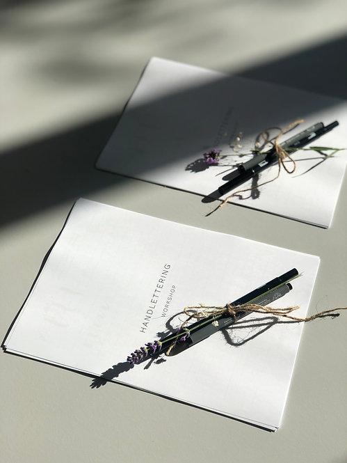 HANDLETTERING Workshop Sheets