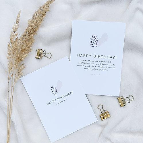 HAPPY BIRTHDAY Karten 2x
