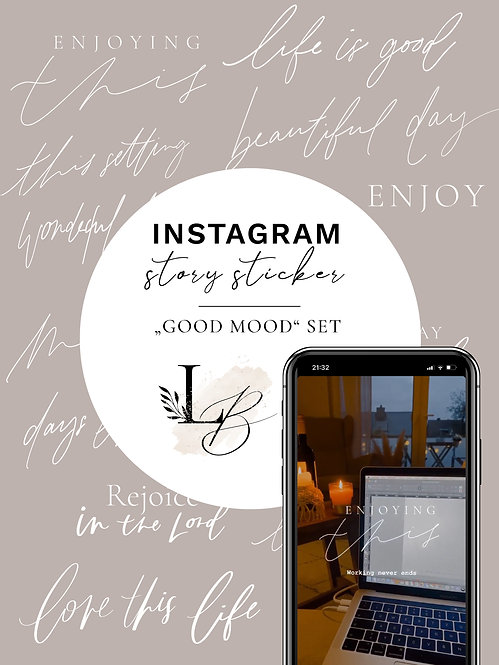 "Instagram Story Sticker Set ""good mood"""