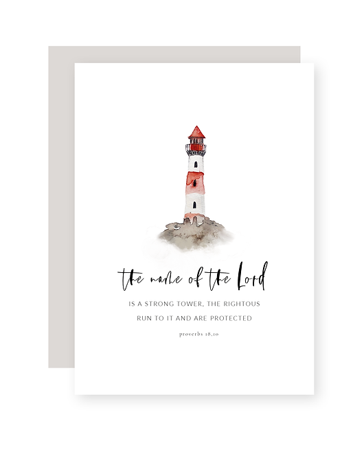 the name of the Lord - Postkarte
