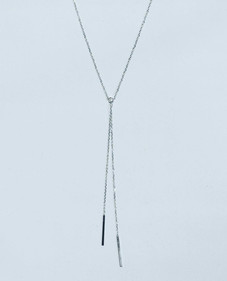 long chain  tie necklace 10kWG