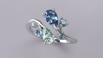 Pear-shaped RING 3DCG