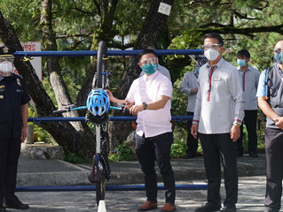 TESDA training center gives bicycle racks to city