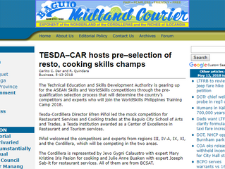 TESDA–CAR hosts pre–selection of resto, cooking skills champs