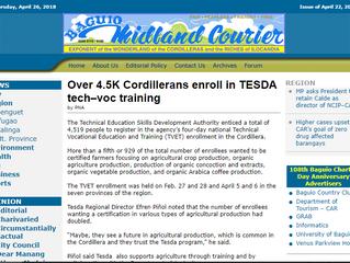 Over 4.5K Cordillerans enroll in TESDA tech–voc training