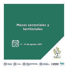 Mesas sectoriales y territoriales