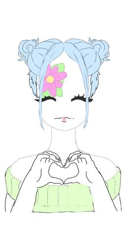 Desenho da pequena Y., de 10 anos