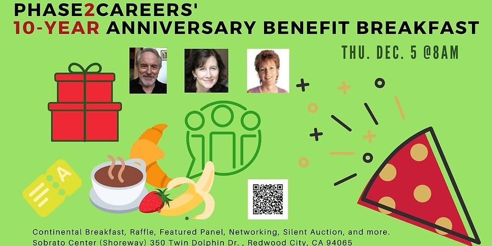 Phase2Careers' 10-year Anniversary Benefit Breakfast