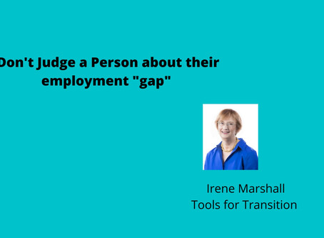 """Don't judge a person about their employment """"gap"""""""