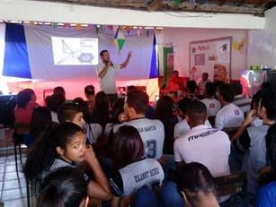 O Instituto CICAA realiza palestra e apresenta projeto para a comunidade de Delfino, no município de