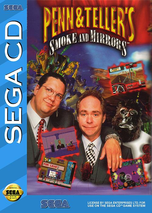 Penn & Teller Smoke and Mirrors Sega CD