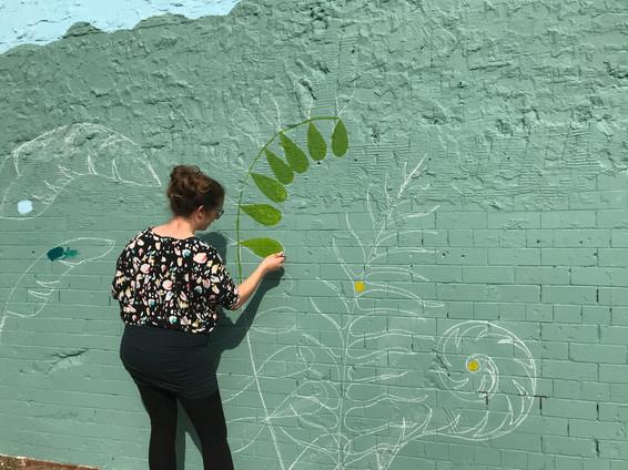 Barton Hill Accademy Jungle Mural