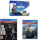 Pack Console PS4 Slim Noire (500 Go) + The Last Of Us + God Of War