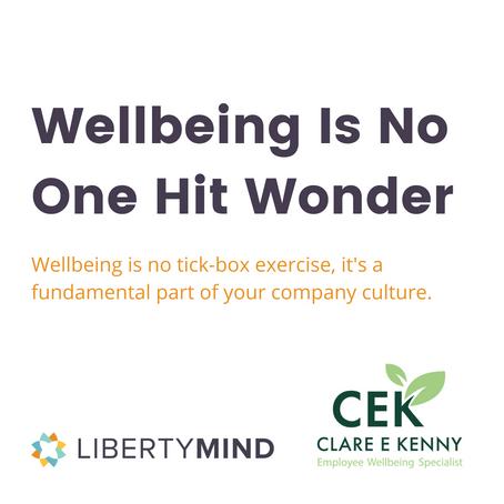 Webinar: Wellbeing is no one hit wonder
