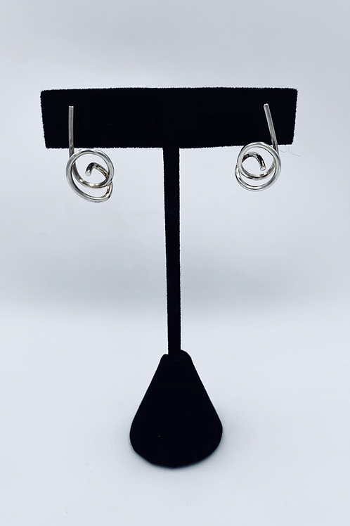 Handcrafted silver knot earrings