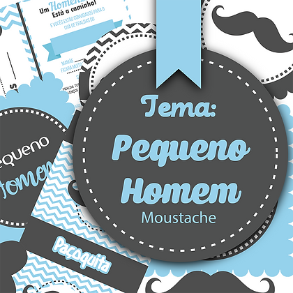Embalagens festa - Chá de bebê Moustache