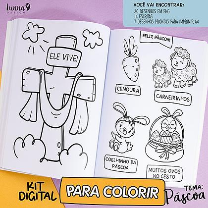 KIT DIGITAL | Para colorir Páscoa