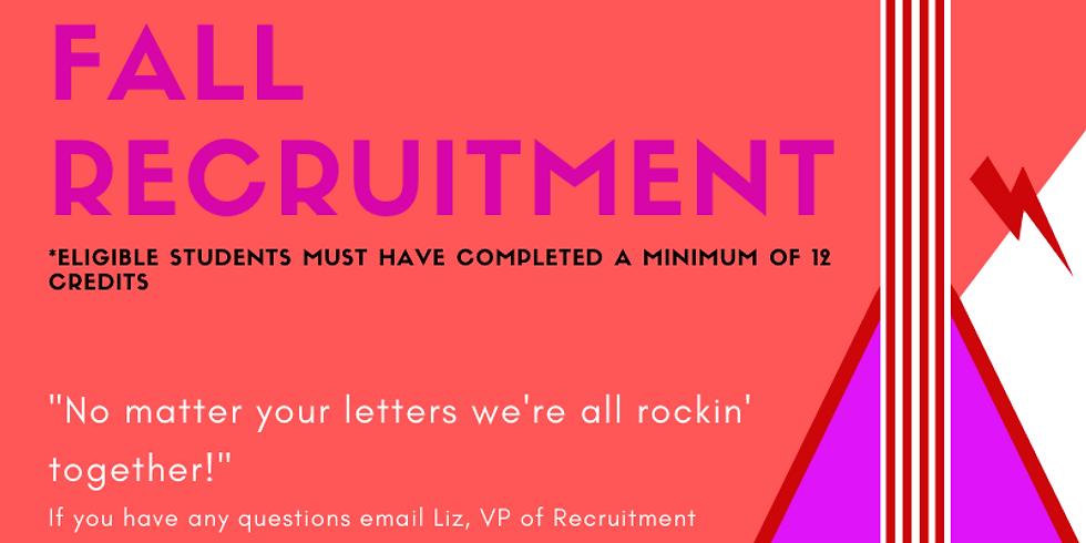 Fall Recruitment Open House
