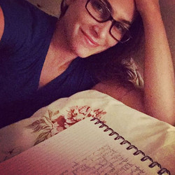 Secrets about me, I love writing at night from my bed..