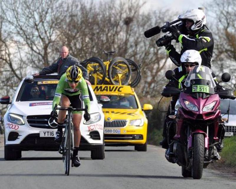 Cycle race camera