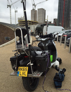 Electric camera tracking vehicle