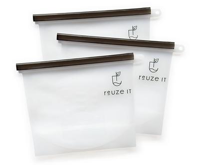Reusable Silicon Zip Lock bags - 3 pk