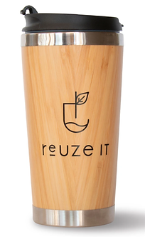 Reusable Stainless steel interior Bamboo Cup