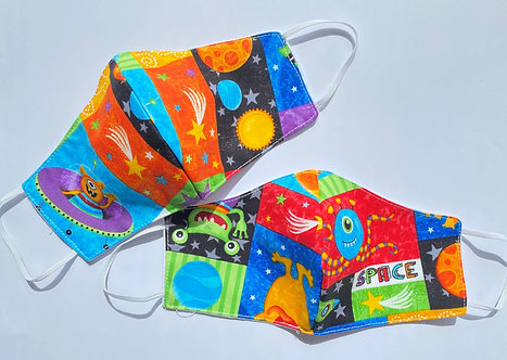 Kids Space Theme Face Mask